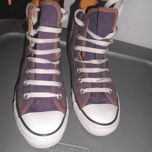 3c91db03e7d8a4 Converse Shoes - Converse Laker Purple with Yellow Stitching